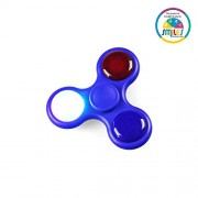 Smiles Creation Fidget Spinner with 3 Mode Light, On and off Switch Push Activated Control Hand Spinner Ultra Speed 360 Tri-Spinner Toy for Kids