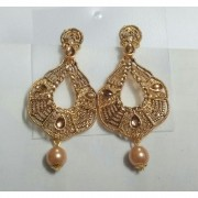 American Diamond Matte Finish Brass Earrings American Diamond Earrings Online