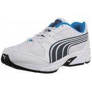 Puma Men's Strike II DP White, Cloisonné and Poseidon Mesh Running Shoes - 7 UK/India (40.5 EU)