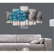 Tablou decorativ multicanvas Miracle, 5 Piese, Gotic, 236MIR2926, Multicolor