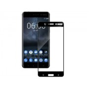 Curved Tempered Glass Full Screen Protector for Nokia 6 - Nokia Screen Protector (Black/Clear)