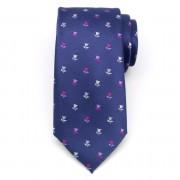 Férfiak klasszikus nyakkendő (minta 1302) 8457 a kék szín val vel virág