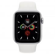 Apple Watch Series 5 GPS 40mm Alumínio Prateado com Bracelete Desportiva Branca