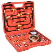 vidaXL Kit pre tlakové skúšky vstrekovania paliva