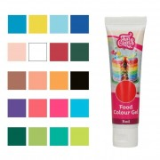 Cake Supplies Colorante concentrado en gel de colores de 30 g - FunCakes - Color Blanco