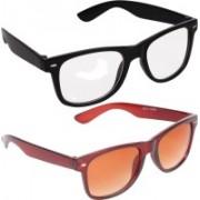Criba Wayfarer Sunglasses(Clear, Brown)