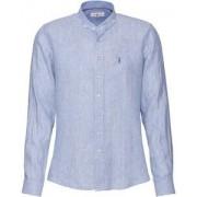 Almsach Stehkragenhemd aus Leinen - Size: 37/38 39/40 41/42 43/44 45/46