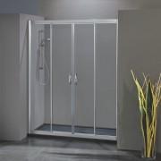 Porta doccia scorrevole con apertura centrale 1704/4 da 191 cm in cristallo 6 mm Brill Trasparente