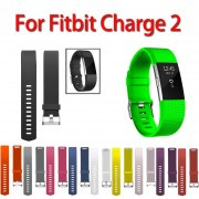 11 Colors Sport Watch Bracelet For Fitbit Charge 2 Watch Small and Large Size silicone Replacement Smart watch band