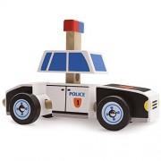 Toy Toddler, Wooden Wonders Police Car Puzzle Take Apart Kids Building Kit Toy
