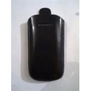 Черен калъф за Samsung B7722 от естествена кожа