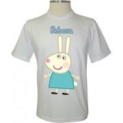 Camiseta Peppa Pig Rebeca a Coelha - Coleção Peppa Pig