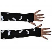 Merkloos Heksen handschoenen met vleermuizen