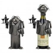 Поставка за вино [en.casa]®, Келнер, 16,5 x 13 x 24,5 cm