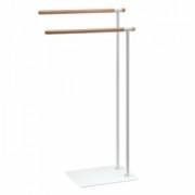 Suport dublu stativ pentru prosoape,Aquanova Oscar,alb -OSCTLH-09