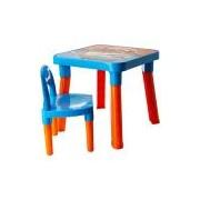 Mesa com Cadeira Hot Wheels Azul