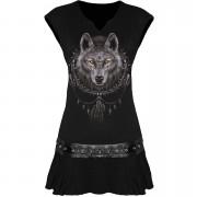Spiral Women's WOLF DREAMS Stud Waist Mini Dress - Black - XL - Black