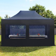 taltpartner.se Snabbtält 3x4,5m PES 350 g/m² svart vattentät