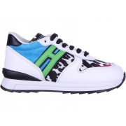 Hogan Rebel Sneakers R 261 Animalier Zip Rebel White