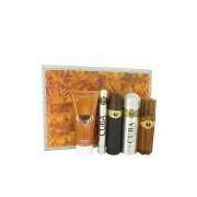 Perfume Masculino Cuba Gold CX. presente Fragluxe 100 ML Eau De Toilette + 100 ML Pós Barba + 200 ML Body Desodorante +