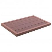 vidaXL Подова настилка за соларен душ, кафява, 101x63x5,5 см, WPC
