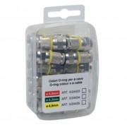 L.S.C. Isolanti Elettrici 25 Connettori Coassiali Diam. 5 Mm A Spina Tipo F Anelli Rossi