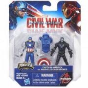Комплект фигурки Авенджърс Капитан Америка - Гражданска война - 5 налични модела - Hasbro, 033628