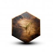 TIMMER wood decor Tobacco Burst - Topoľové drevené hodiny