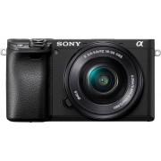 Sony »ILCE-6400LB - Alpha 6400 E-Mount« Systemkamera (24,2 MP, Bluetooth, WLAN (Wi-Fi), NFC, 4K Video, 180° Klapp-Display, XGA OLED Sucher, L-Kit 16-50mm Objektiv)