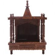 Shilpi Brown Sheesham Wood Exquisite Temple / Mandir / Puja Esstential / Wooden Mandir - (NSHC0064)