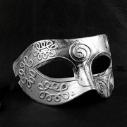Tinksky Mens Masquerade Masks Face Mask Venetian for Fancy Dress Ball / Masked Halloween (Silver)