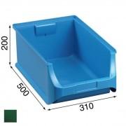 Allit Plastové boxy plus 5, 310 x 500 x 200 mm, zelené, 6 ks