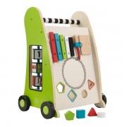 Jucarie educativa de impins cu activitati Push Along Play Cart - KidKraft