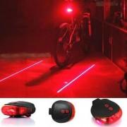Laserové zadné svetlo na bicykel