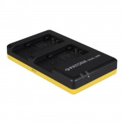 Patona Incarcator Rapid Dual pentru Panasonic VW-VBT190, VBT-380 cu Cablu Micro USB