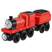 Mattel Y4070 Toy Trains (Black, Red, Wood)