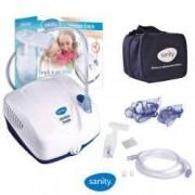 Aparat aerosoli Sanity Inhaler Simple nebulizator cu compresor dimensiuni partciule 2.44 microni