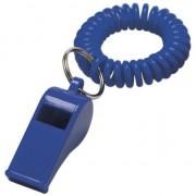 Merkloos 4x Blauwe fluitjes aan polsbandje