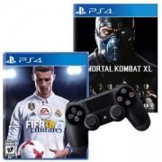Игра FIFA 18 за PlayStation 4 - PS4+Игра Mortal Kombat XL PS4+Геймпад - Sony PlayStation DualShock 4 Wireless