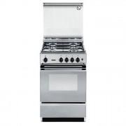 DeLonghi SEX554N Cucina 50x50cm 4 Fuochi a Gas Forno Elettrico B Inox