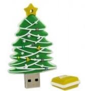 Microware Christmas Tree Shape 4 GB Pen Drive(Green)