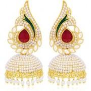 Jewels Gehna Traditional Alloy Party Wear Wedding Jhumki Earring Set For Women Girls