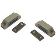 Bellatio Design 2x stuks magneetsnapper / magneetsnappers met metalen sluitplaat wit 6 x 3,8 x 1,6 cm