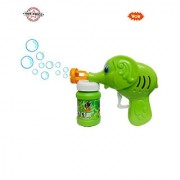 Green Toon Hand Pressing Bubble Making Toy Gun