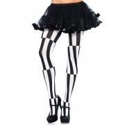 Collants de ilusão ótica preto e branco para mulher - XL/2XL (48-52)