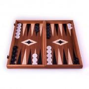 Set joc table backgammon cu tabla de sah la exterior lemn de mahon inlaid 47 5 x 50 cm