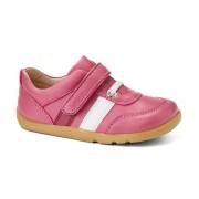 Bobux Rózsaszín-fehér tépőzáras kiscipő - 28 (4-5 éves)