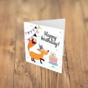 Felicitare cadou HAPPY BIRTHDAY vulpe