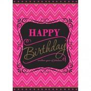 amscan Born to be Fabulous Mantel de plástico para Mesa de Fiesta de cumpleaños, 54 x 102 Pulgadas