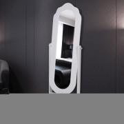 vidaXL Spegel fristående vändbar vit